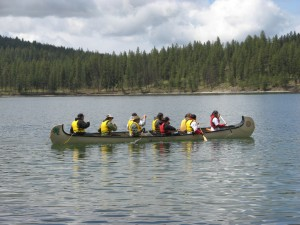 Phil and Larry teach canoeing and people skills.